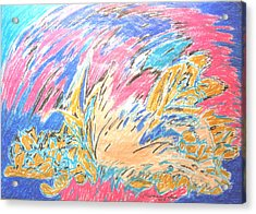 Acrylic Print featuring the painting Ecstasy by Esther Newman-Cohen