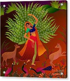 Acrylic Print featuring the digital art Ecstasy-ragamala by Latha Gokuldas Panicker