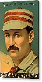 Ed Andrews Baseball Card Acrylic Print by David Letts