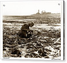 Ed Ricketts At Point Wilson Lighthouse In Port Townsend Wa 1930 Acrylic Print