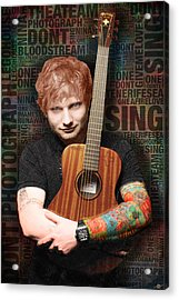 Ed Sheeran And Song Titles Acrylic Print