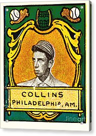 Eddie Collins Philadelphia Athletics Baseball Card 1025 Acrylic Print by Wingsdomain Art and Photography