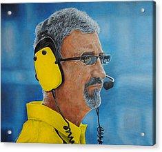 Acrylic Print featuring the painting Eddie Jordan by David Dunne