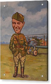 Acrylic Print featuring the painting Eddie Rickenbacker by Murray McLeod
