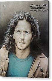 ' Eddie Vedder ' Acrylic Print