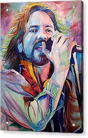 Eddie Vedder In Pink And Blue Acrylic Print