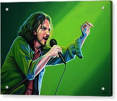 Eddie Vedder Of Pearl Jam Acrylic Print by Paul Meijering