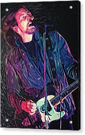 Eddie Vedder Acrylic Print by Taylan Apukovska