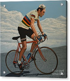 Eddy Merckx Acrylic Print by Paul Meijering