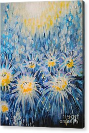 Acrylic Print featuring the painting Edentian Garden by Holly Carmichael
