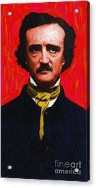 Edgar Allan Poe - Painterly Acrylic Print