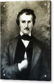 Edgar Allen Poe  Acrylic Print by Bill Cannon