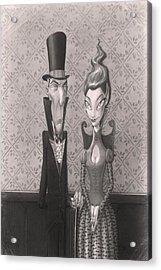 Edgar And Larissa Acrylic Print by Richard Moore
