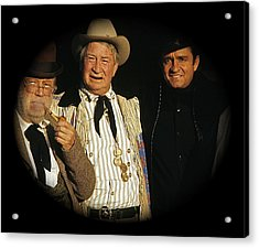 Acrylic Print featuring the photograph Edgar Buchanan Chills Wills  Johnny Cash Porch Old Tucson Arizona 1971-2008 by David Lee Guss