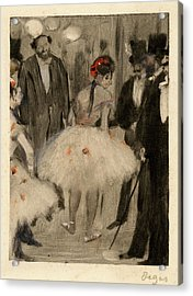 Edgar Degas, French 1834-1917, Virginie Being Admired While Acrylic Print by Litz Collection