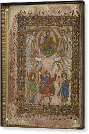 Edgar Offers Charter To Christ Acrylic Print by British Library