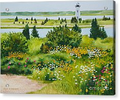 Acrylic Print featuring the painting Edgartown Light by Karol Wyckoff