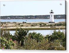 Edgartown Lighthouse With Wildflowers Acrylic Print by Carol Groenen