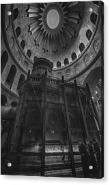 Edicule - Church Of The Holy Sepulchre Acrylic Print by Stephen Stookey