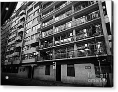 edificio general norambuena mutualidad de carabineros Santiago Chile Acrylic Print by Joe Fox