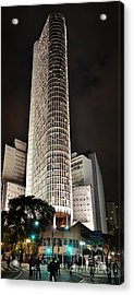 Edificio Italia By Night Acrylic Print