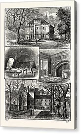 Edinburgh 1. The Hermitage Braid 2. Craig House 3 Acrylic Print by English School