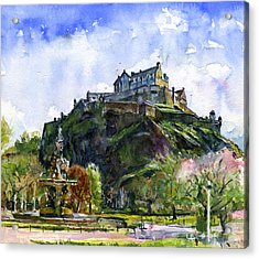 Edinburgh Castle Scotland Acrylic Print by John D Benson