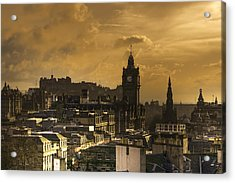 Edinburgh Dusk Acrylic Print