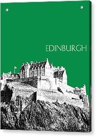 Edinburgh Skyline Edinburgh Castle - Forest Green Acrylic Print by DB Artist