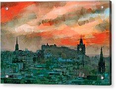 Edinburgh Sunset Acrylic Print