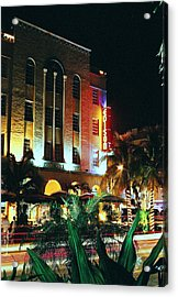 Acrylic Print featuring the photograph Edison Hotel Film Image by Gary Dean Mercer Clark