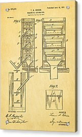 Edison Magnetic Separator Patent Art 1901 Acrylic Print by Ian Monk