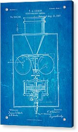 Edison Motion Picture Camera Patent Art 1897 Blueprint Acrylic Print by Ian Monk