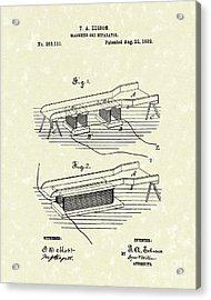 Edison Ore Separator 1882 Patent Art Acrylic Print by Prior Art Design