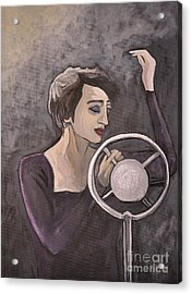 Edith Piaf Acrylic Print by Reb Frost