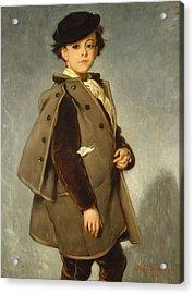 Edmond Dehodencq Wearing An Inverness Cape Acrylic Print by Alfred Dehodencq
