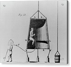 Edmond Halley's Diving Bell Of 1716 Acrylic Print by Science Photo Library