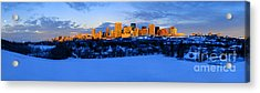 Edmonton Winter Skyline Panorama 1 Acrylic Print