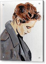 Edward Acrylic Print by Audrey Pollitt