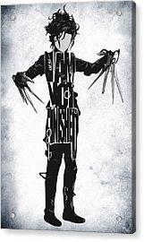 Edward Scissorhands - Johnny Depp Acrylic Print by Ayse Deniz