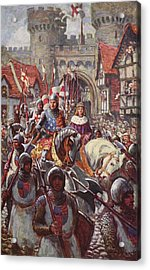 Edward V Rides Into London With Duke Acrylic Print