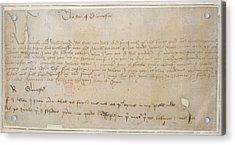 Edward Vith's Proclamation Acrylic Print by British Library
