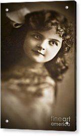 Edwardian Young Girl Acrylic Print by Jan Bickerton