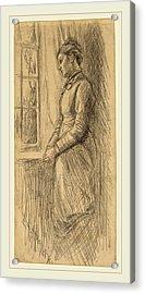 Edwin Austin Abbey, Solitude Miss Vesta Rollinstall Acrylic Print