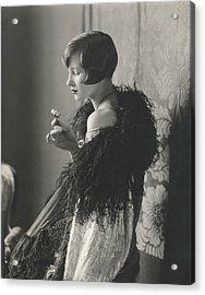Edythe Baker Wearing A Black Shawl Acrylic Print