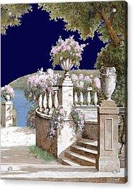 La Balaustra Di Notte Acrylic Print by Guido Borelli