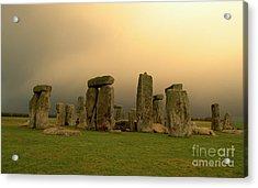 Eerie Stonehenge Acrylic Print by Deborah Smolinske