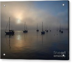 Eerie Sunrise Acrylic Print by Trena Mara