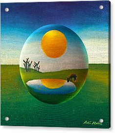 Acrylic Print featuring the painting Eeyorb  by Robin Moline