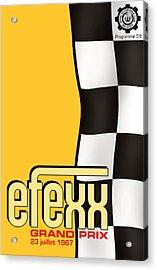 Efexx Grand Prix 1967 Acrylic Print by Georgia Fowler